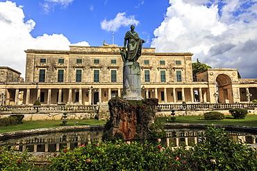 Palace of St. Michael and George (Royal Palace) (City Palace), Corfu Town, UNESCO World Heritage Site, Corfu, Ionian Islands, Greek Islands, Greece, Europe
