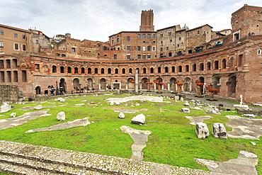 Trajan's Markets, Roman ruins, Forum area, Historic Centre (Centro Storico), Rome, UNESCO World Heritage Site, Lazio, Italy