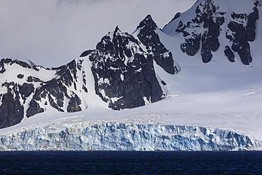 Tidewater glacier, Greenwich Island, from the sea, South Shetland Islands, Antarctica, Polar Regions
