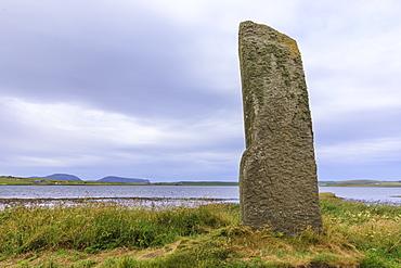 Watch Stone monolith in Loch of Stenness, Scotland, Europe