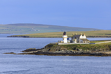 Lighthouse on Helliar Holm in Orkney Islands, Scotland, Europe