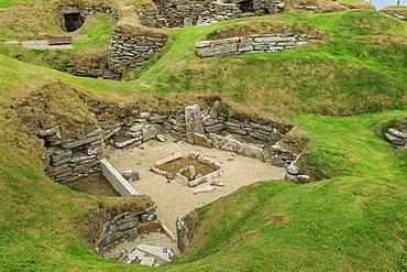 Skara Brae Neolithic settlement in Orkney Islands, Scotland, Europe