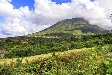 Nevis Peak, Mount Nevis, volcano, Nevis, St. Kitts and Nevis, West Indies, Caribbean, Central America