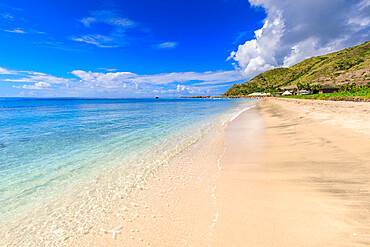 Beautiful beach, turquoise sea, Carambola Beach, South Friars Bay, St. Kitts, St. Kitts and Nevis, Leeward Islands, West Indies, Caribbean, Central America