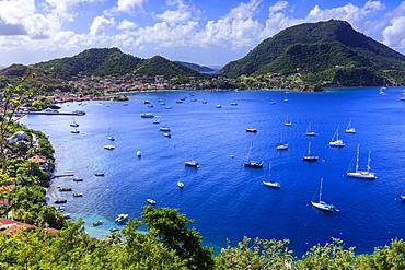 Beautiful Les Saintes Bay from Fort Napoleon, Bourg des Saintes, Terre de Haut, Iles Des Saintes, Guadeloupe, Leeward Islands, West Indies, Caribbean, Central America