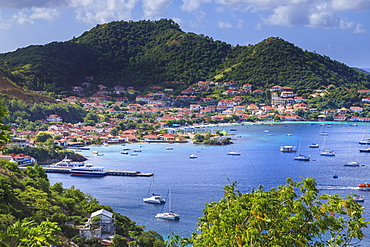 Beautiful Les Saintes Bay, Bourg des Saintes, Terre de Haut, Iles Des Saintes, Guadeloupe, Leeward Islands, West Indies, Caribbean, Central America