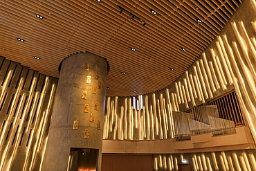 Northern Lights Cathedral, striking interior, Alta, Troms og Finnmark, Arctic Circle, North Norway, Scandinavia, Europe