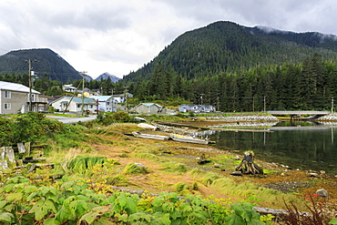 Klemtu, First Nations Kitasoo Xai Xais community, Swindle Island, Great Bear Rainforest, British Columbia, Canada, North America