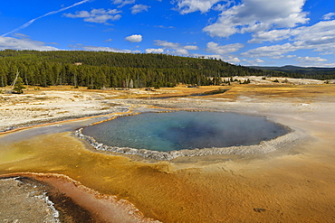 Crested Pool; hot spring; Upper Geyser Basin, Yellowstone National Park, UNESCO World Heritage Site, Wyoming, United States of America, North America