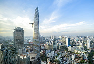 Skyline of the Central Business District of Ho Chi Minh City showing the Bitexco Tower, Ho Chi Minh City, Vietnam, Indochina, Southeast Asia, Asia