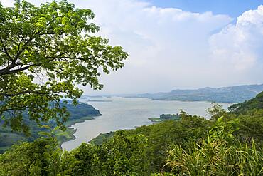 Lake Suchitlan in Suchitoto, El Salvador, Central America