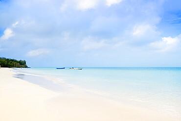 A deserted beach on Big Corn island, Corn Islands, Nicaragua, Central America
