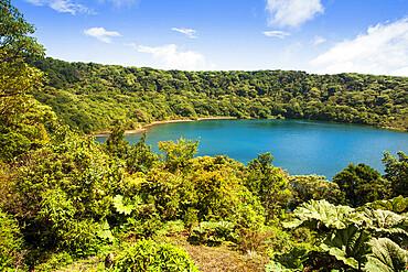Crater lake in the Poas volcano, San Jose, Costa Rica, Central America