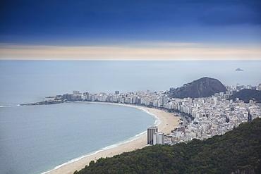 View of Copacabana Beach and the Atlantic Ocean, Rio de Janeiro, Brazil, South America