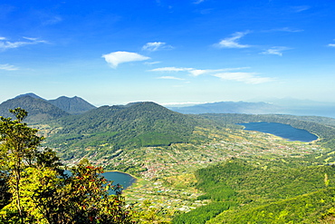 The view from the top of Mount Catur in Bali, Indonesia, Southeast Asia, Asia