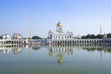 The Gurudwara Bangla Sahib Sikh temple, New Delhi, India, Asia