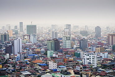 Skyline of the city, Phnom Penh, Cambodia, Indochina, Southeast Asia, Asia
