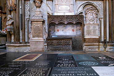 London, Westminster, Westminster Abbey, graves and memorials in Poet's Corner