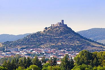 Alconchel castle near Badajoz in Spanish Extremadura, Spain, Europe