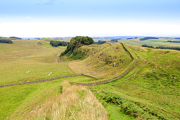 Hadrian's Wall UNESCO World Heritage Site, Northumberland, England, United Kingdom, Europe