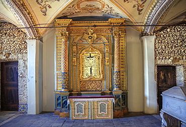 The chapel of bones in Sao Francisco (St. Francis Church) in Evora, Portugal, Alentejo, Portugal, Europe