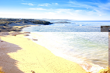 The beach in Vila Nova de Milfontes on the Alentejo coast, Portugal, Europe