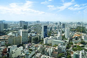 The skyline of Ho Chi Minh City, Vietnam, Indochina, Southeast Asia, Asia