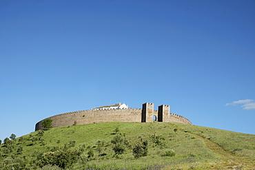 The round castle at Arraiolos, Alentejo, Portugal, Europe