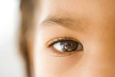 Close up of African girl's eye