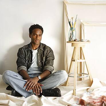 Portrait of male artist