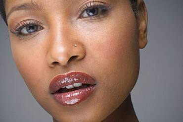 African woman with nose ring