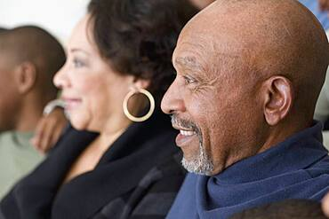 Profile of senior African couple