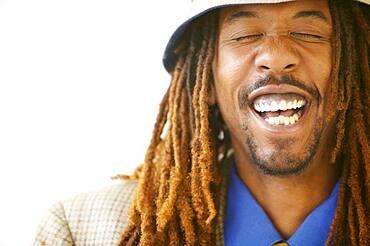 Close up of man laughing