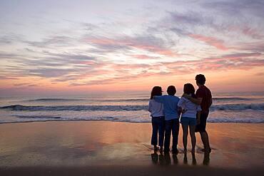 Mixed Race family at beach