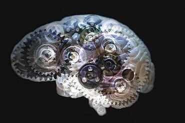 Mechanical gears turning in brain