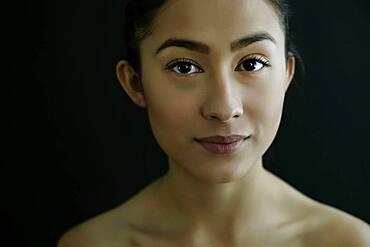 Hispanic woman smiling