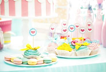 Cookies and cupcakes at birthday party
