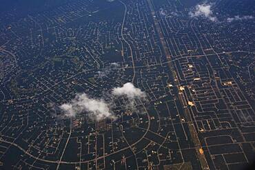 Aerial view of Richmond cityscape, Virginia, United States