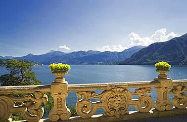 Ornate banister at Lake Como, Villa Balbianello, Lake Como, Italy