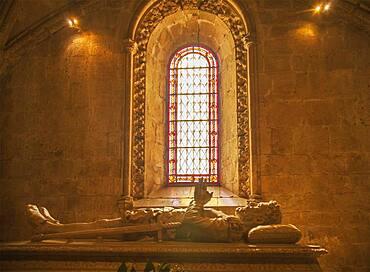 Tomb of Luis de Camoes in Church of Santa Maria, Lisbon, Extremadura, Portugal