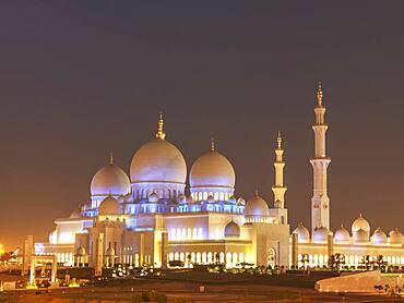 Ornate domed building and spires, Abu Dhabi, Abu Dhabi Emirate, United Arab Emirates