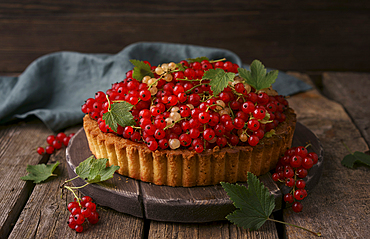 Close up of berries cake