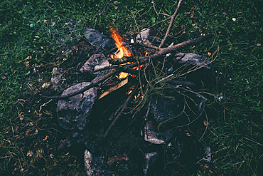 Branches in campfire