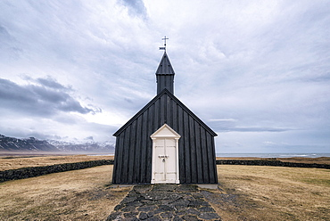 Remote church, Hellissandur, Snaellsnes peninsula, Iceland