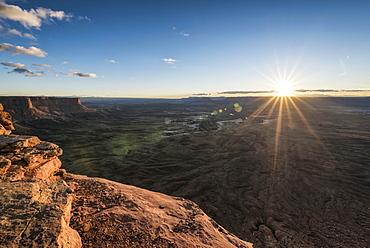 Sunset in canyon, Moab, Utah, United States