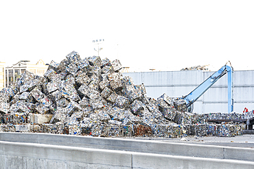 Piles of compacted garbage