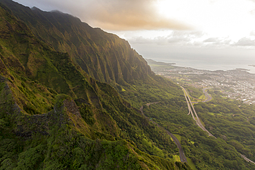 Scenic view of mountain, Honolulu, Hawaii, United States