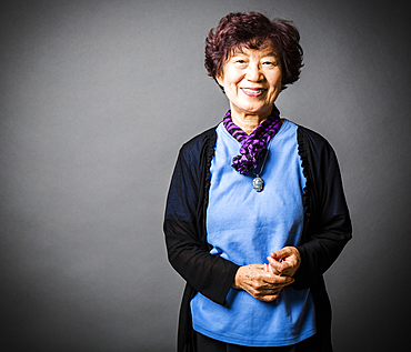 Portrait of smiling Japanese woman