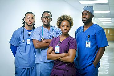 Portrait of confident nurses