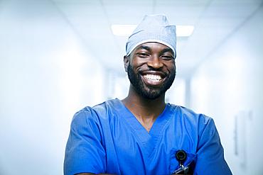 Portrait of smiling black nurse